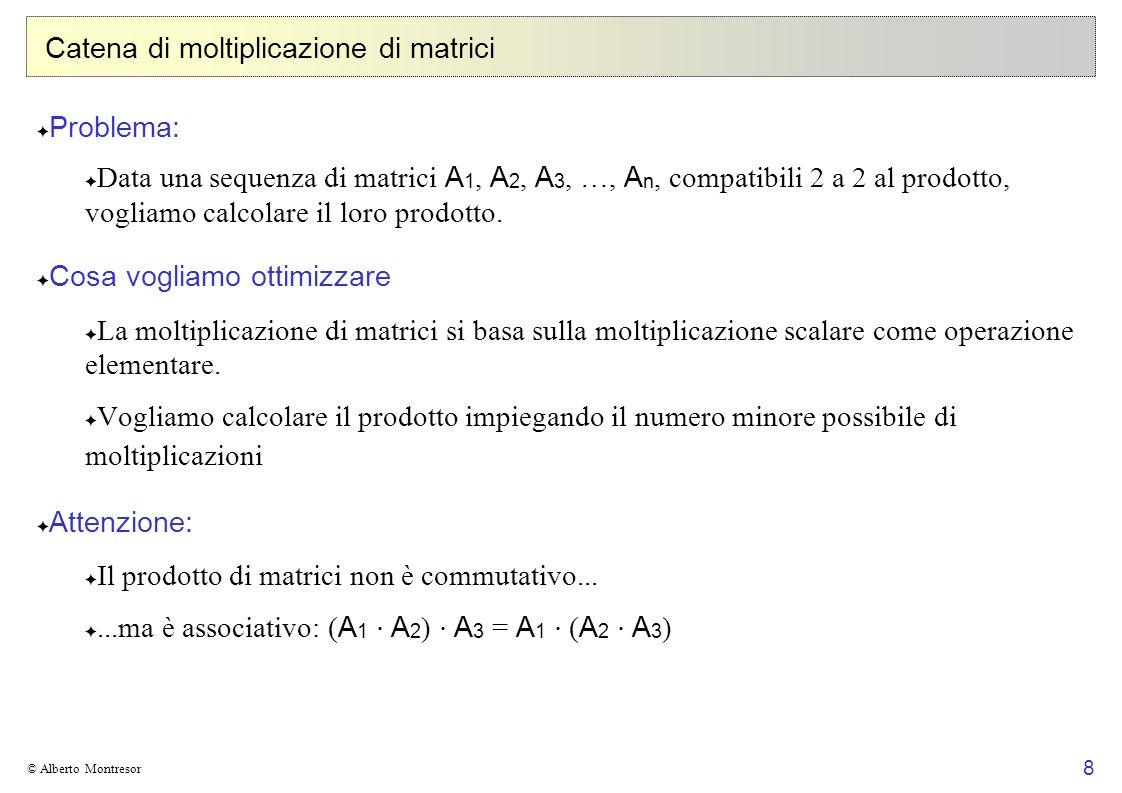 Catena di moltiplicazione di matrici