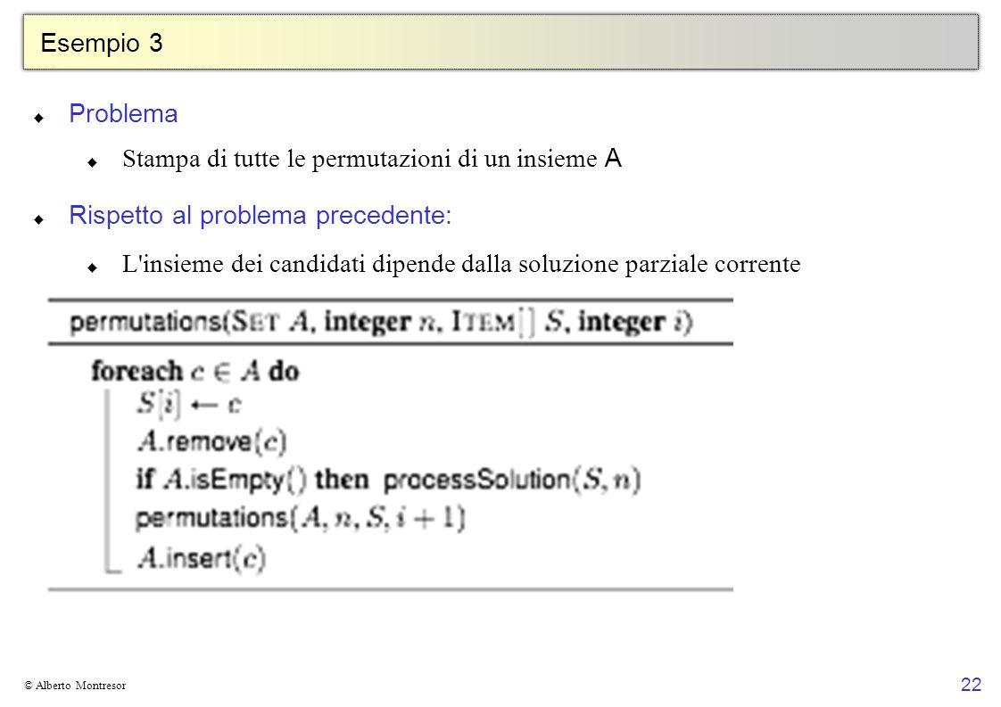 Stampa di tutte le permutazioni di un insieme A