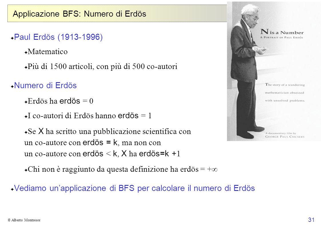 Applicazione BFS: Numero di Erdös