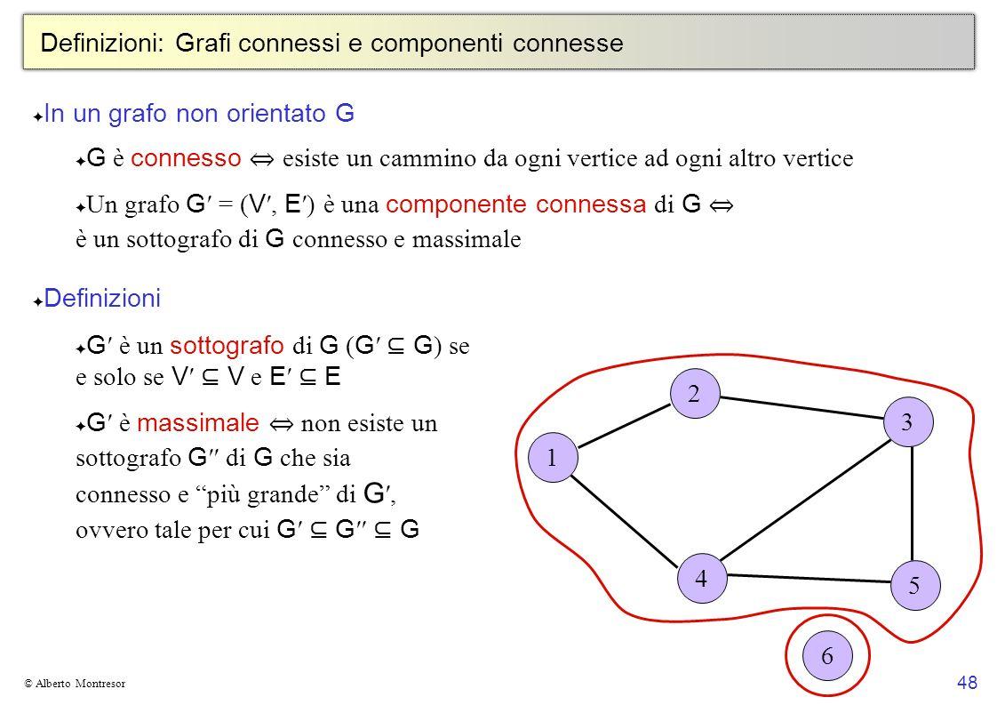 Definizioni: Grafi connessi e componenti connesse