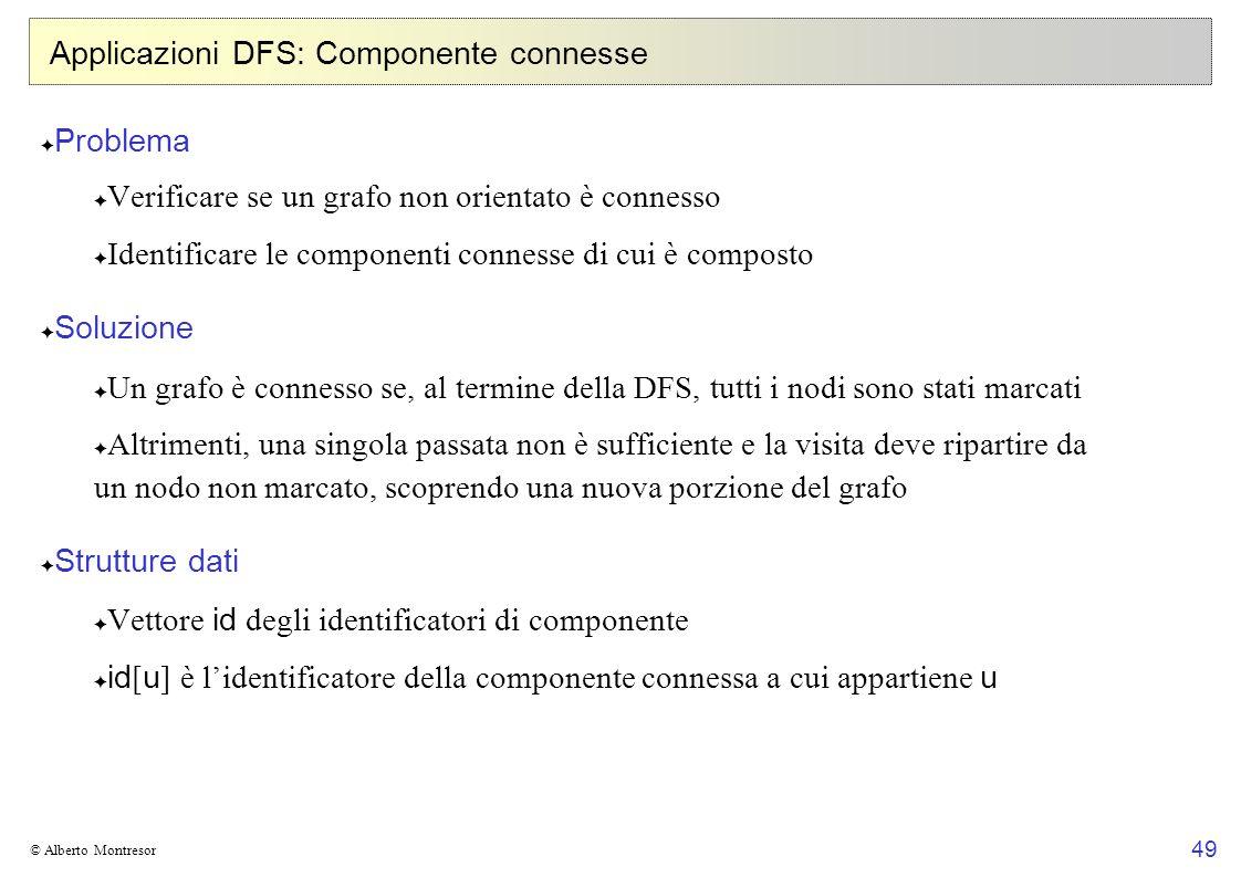 Applicazioni DFS: Componente connesse