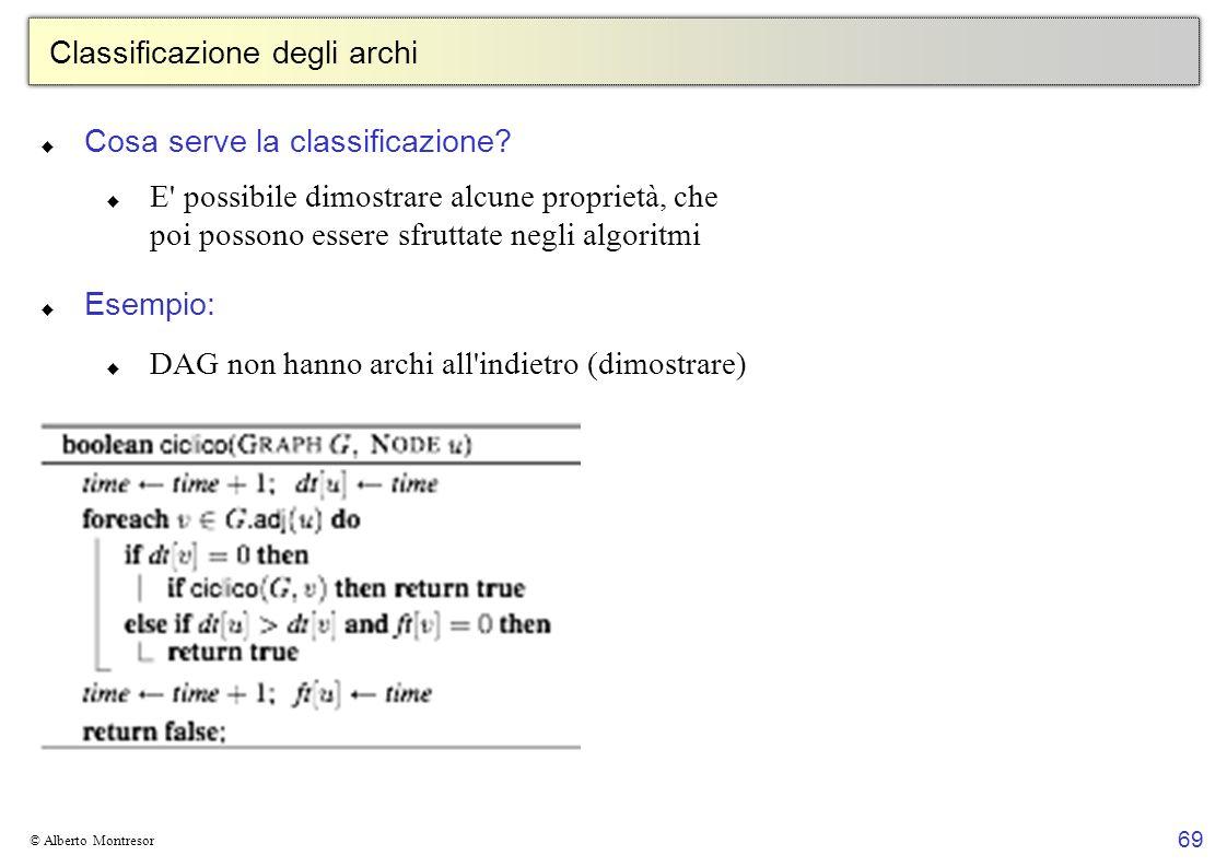 Classificazione degli archi
