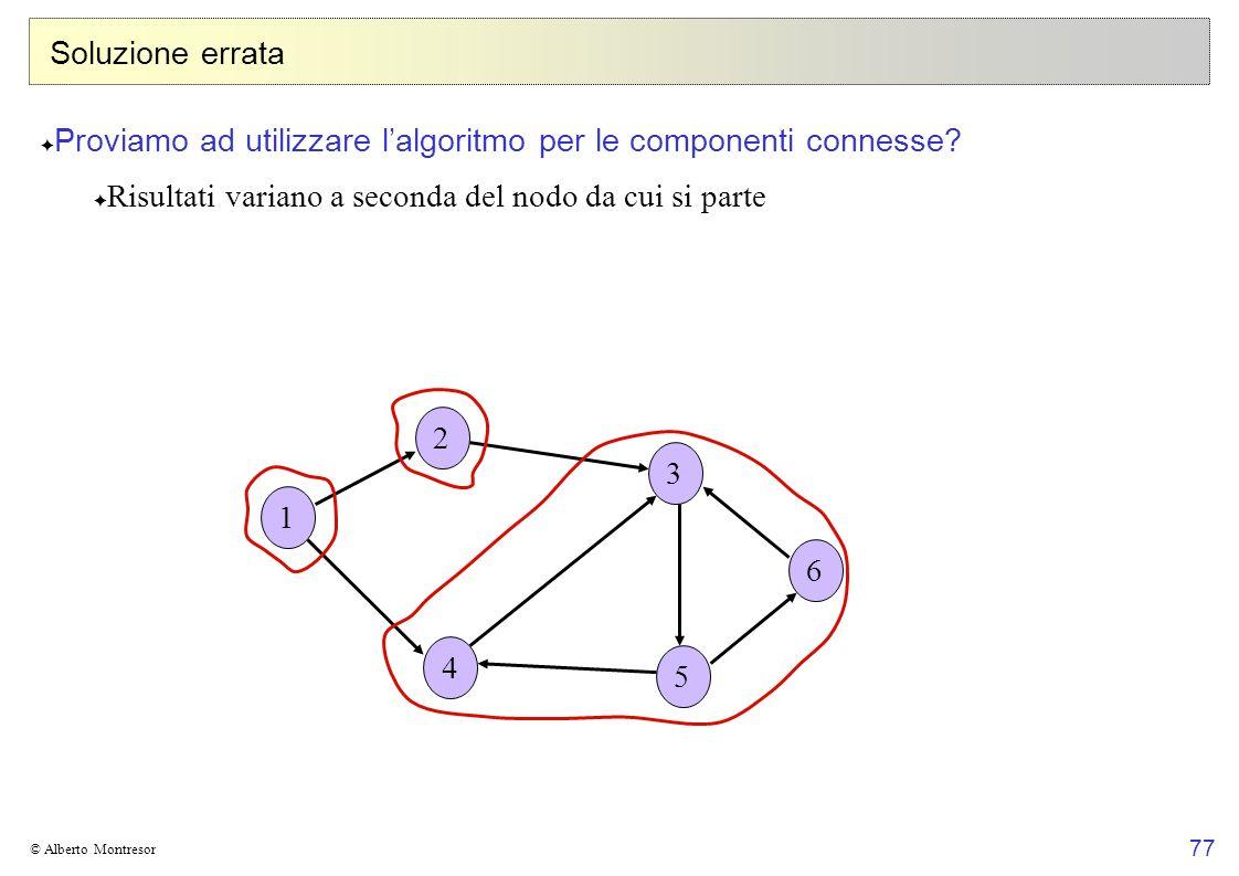 Proviamo ad utilizzare l'algoritmo per le componenti connesse