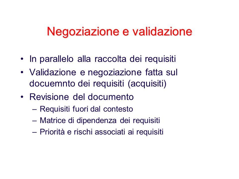 Negoziazione e validazione
