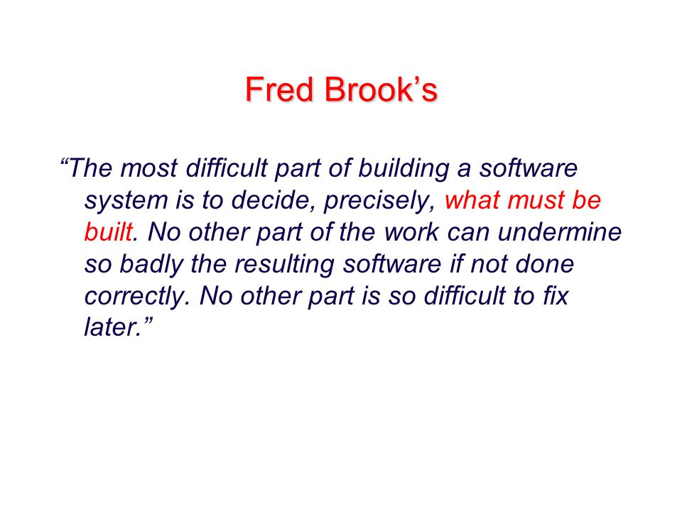 Fred Brook's