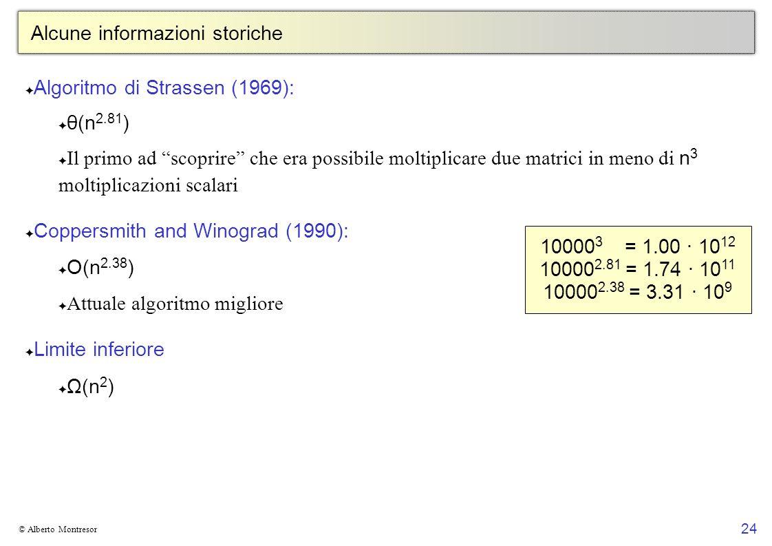 Alcune informazioni storiche