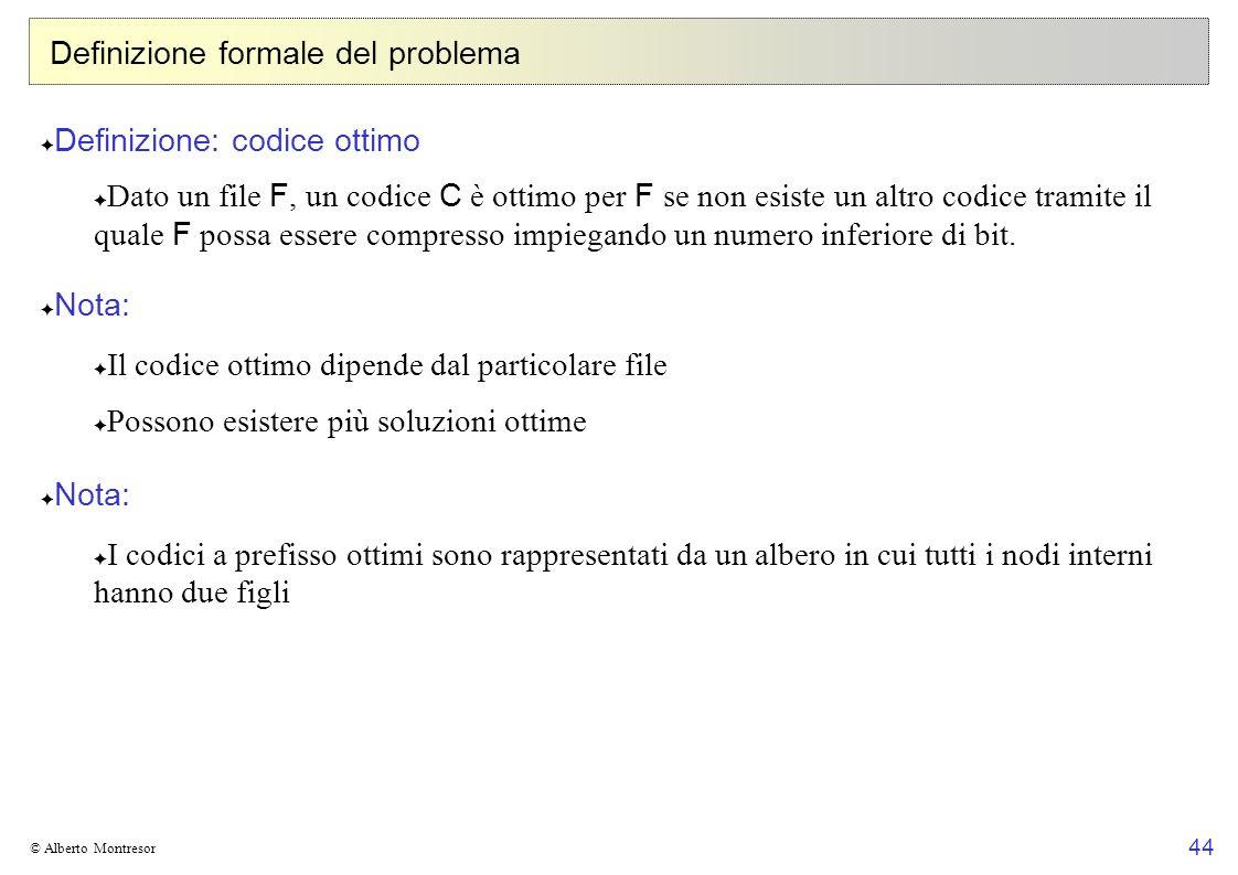Definizione formale del problema