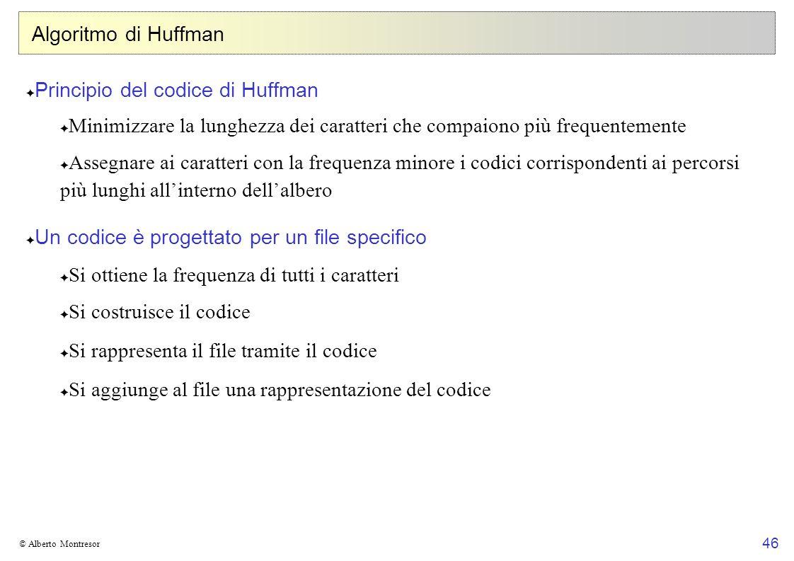 Principio del codice di Huffman