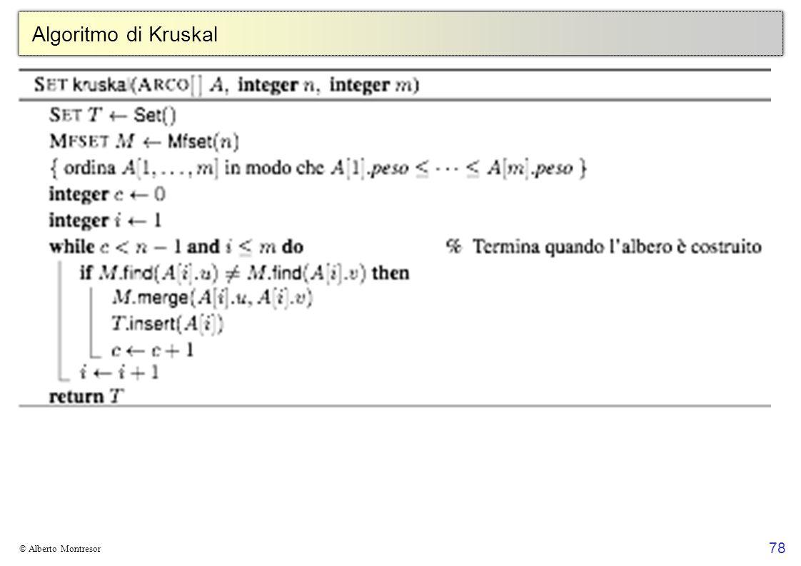 Algoritmo di Kruskal © Alberto Montresor
