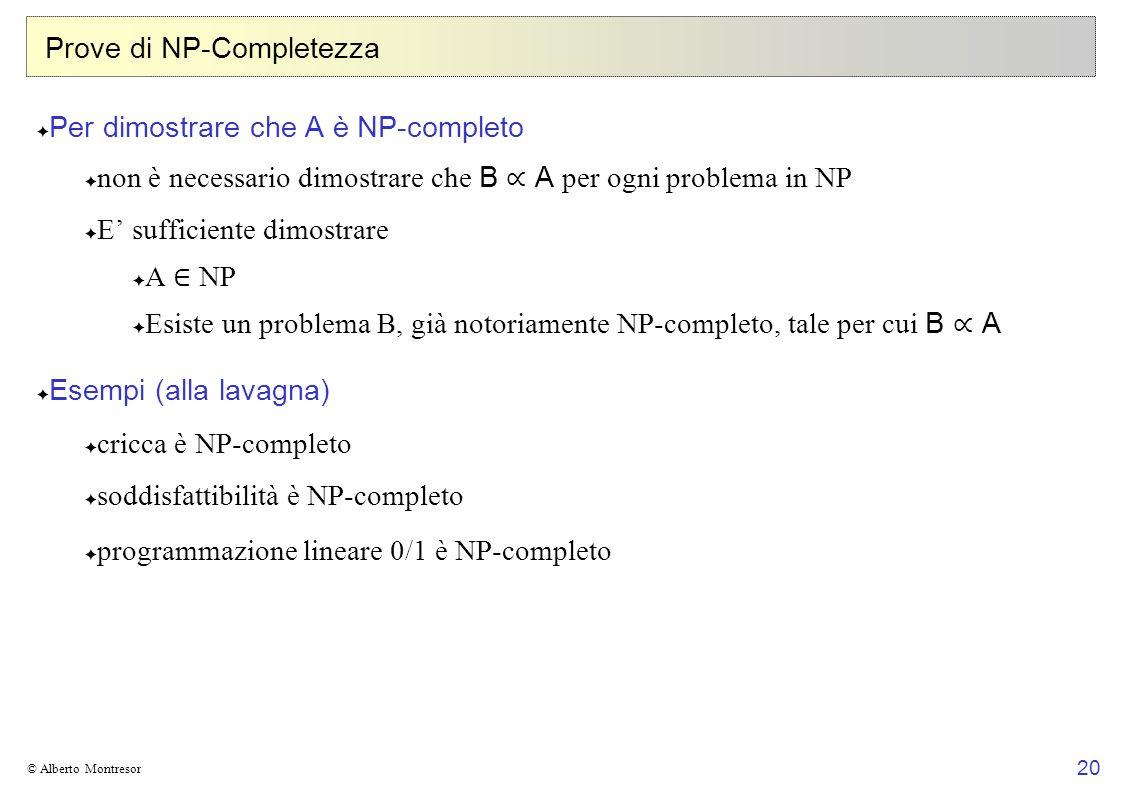 Prove di NP-Completezza