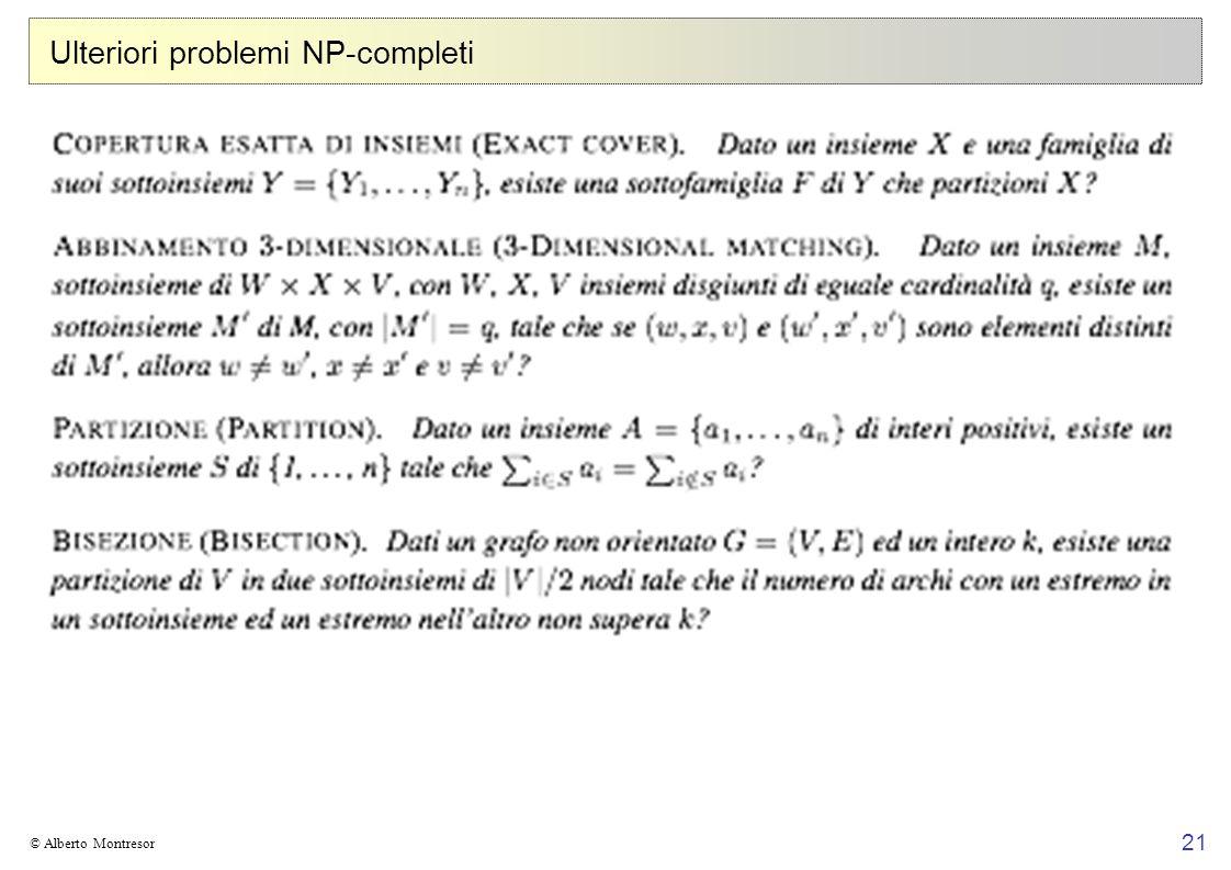 Ulteriori problemi NP-completi