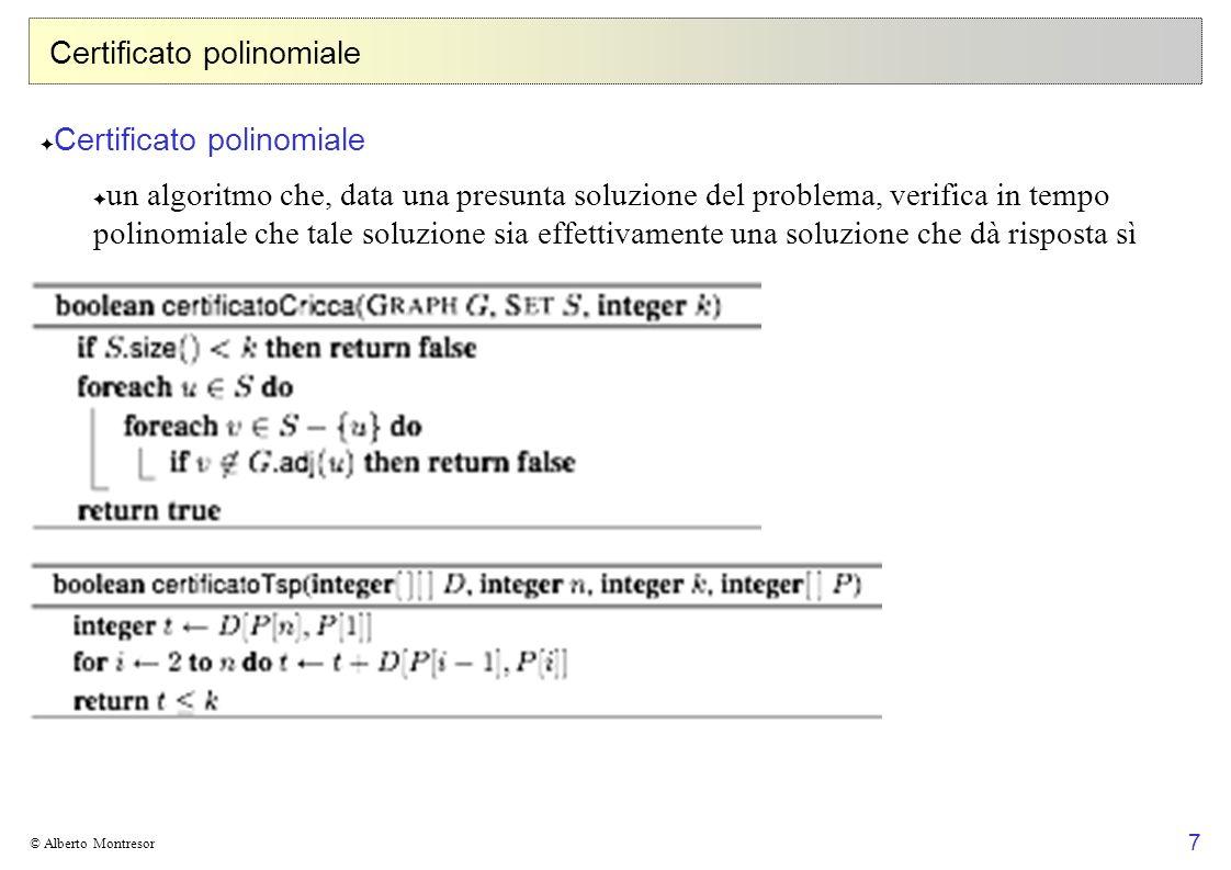 Certificato polinomiale