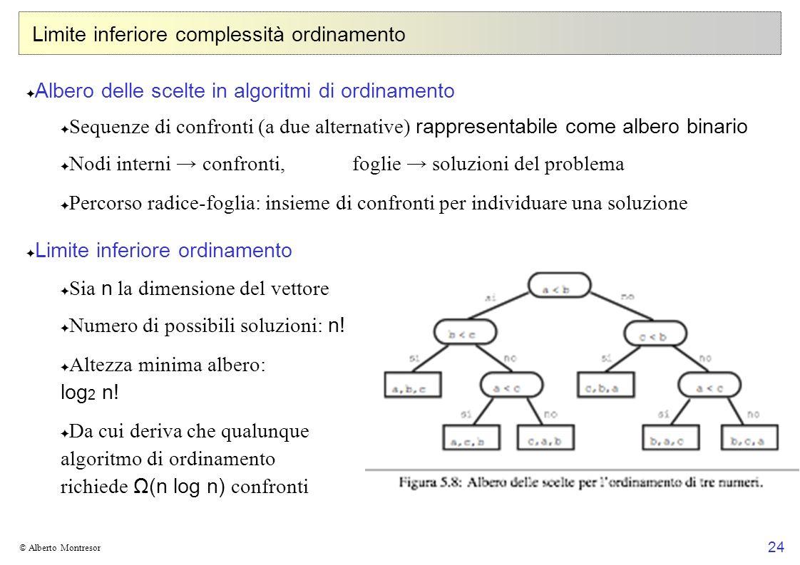 Limite inferiore complessità ordinamento