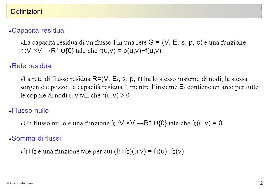 Un flusso nullo è una funzione f0 :V ×V →R+ ∪{0} tale che f0(u,v) = 0.