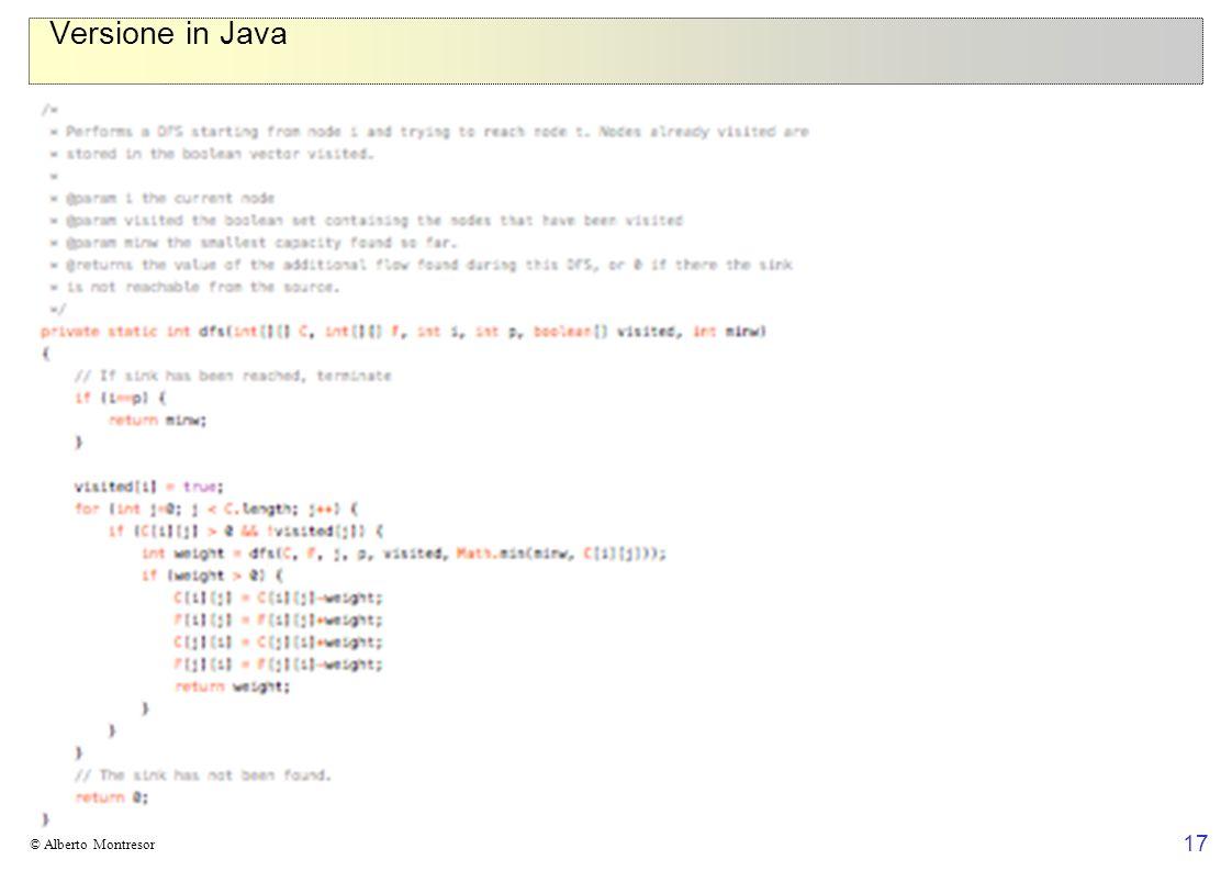 Versione in Java © Alberto Montresor