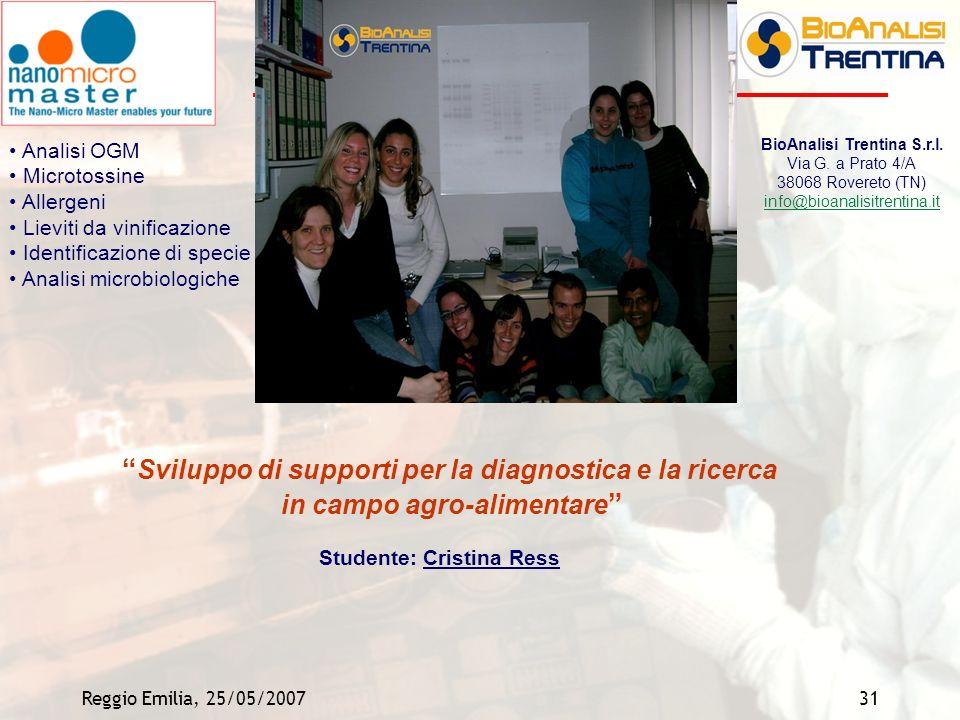 Sviluppo di supporti per la diagnostica e la ricerca