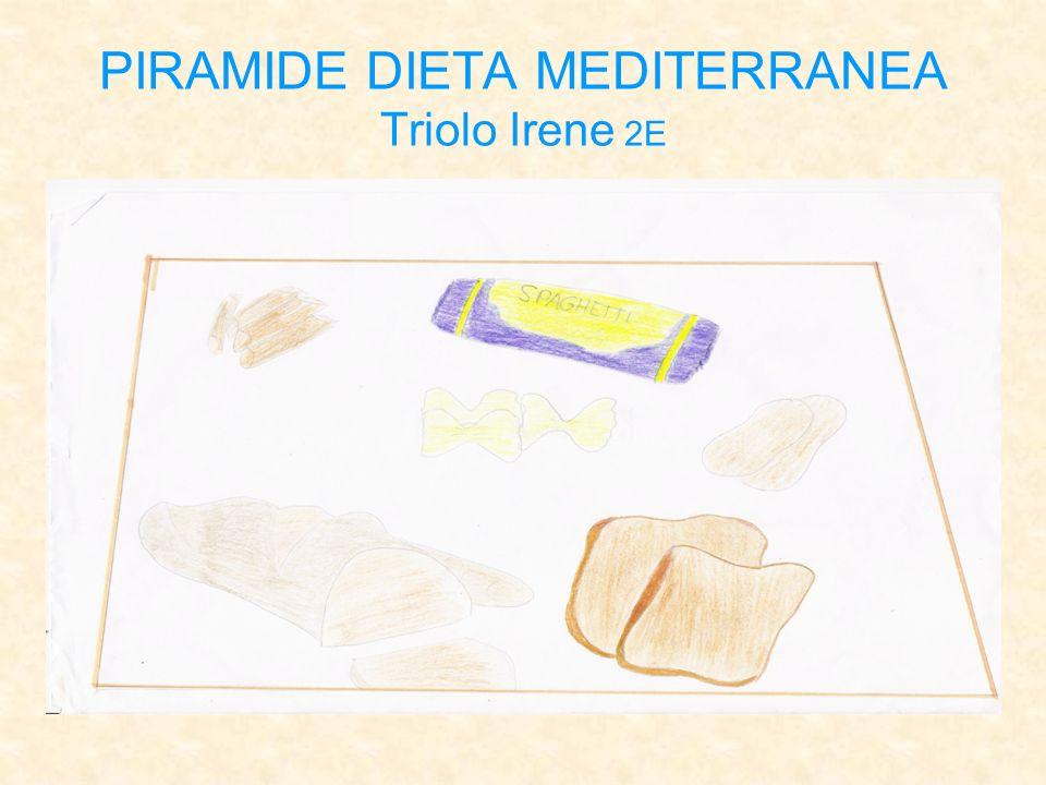 PIRAMIDE DIETA MEDITERRANEA Triolo Irene 2E