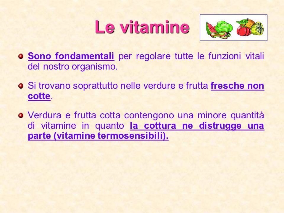 Le vitamine Sono fondamentali per regolare tutte le funzioni vitali del nostro organismo.