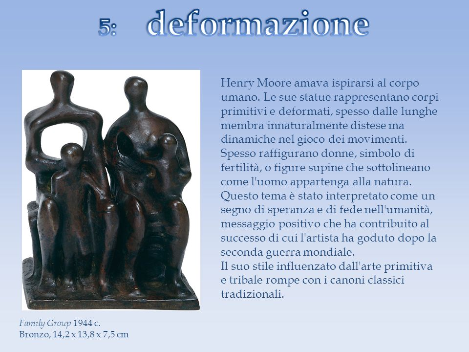 Henry Moore amava ispirarsi al corpo umano