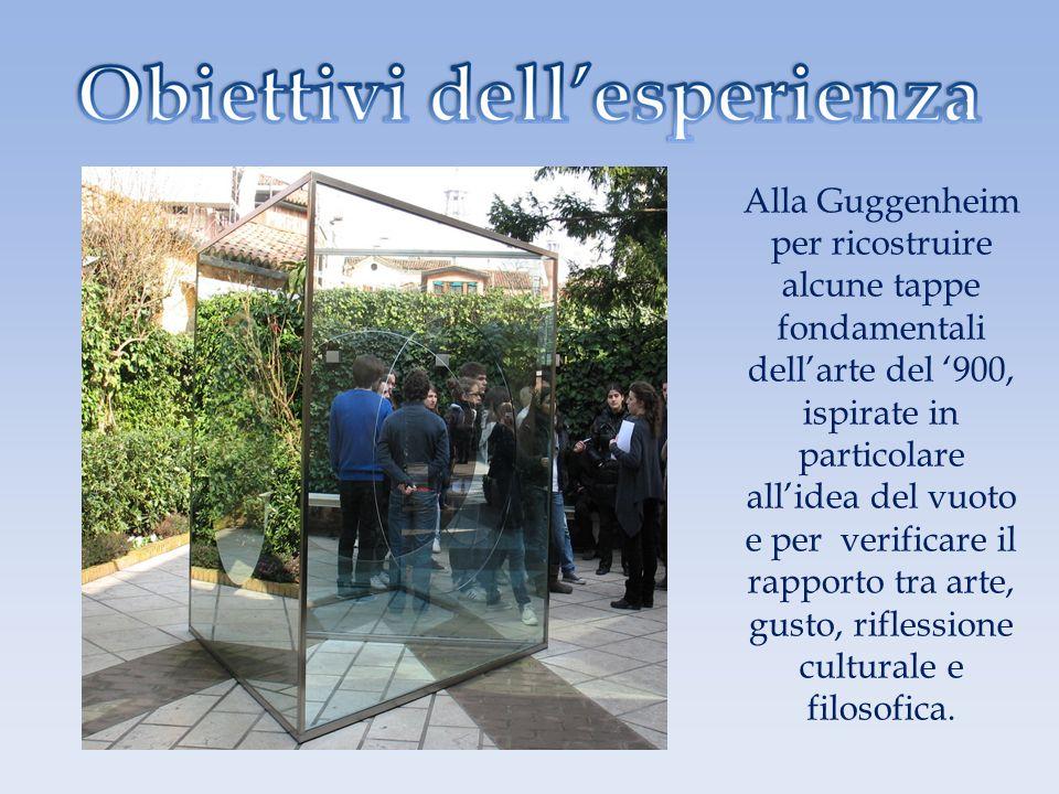 Alla Guggenheim per ricostruire alcune tappe fondamentali dell'arte del '900, ispirate in particolare all'idea del vuoto e per verificare il rapporto tra arte, gusto, riflessione culturale e filosofica.