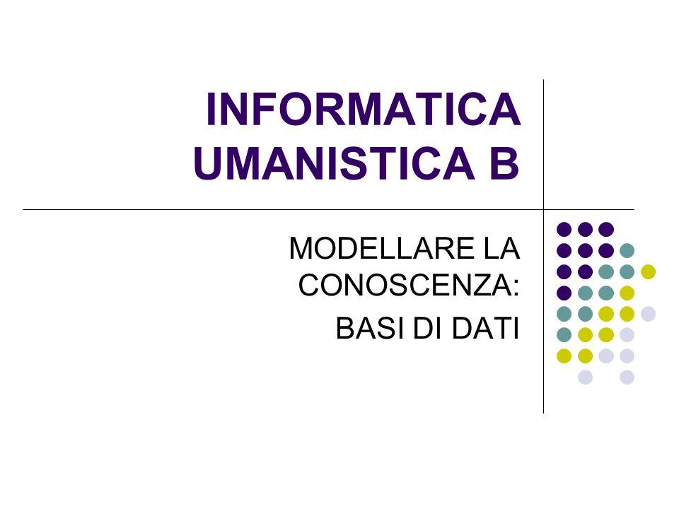 INFORMATICA UMANISTICA B