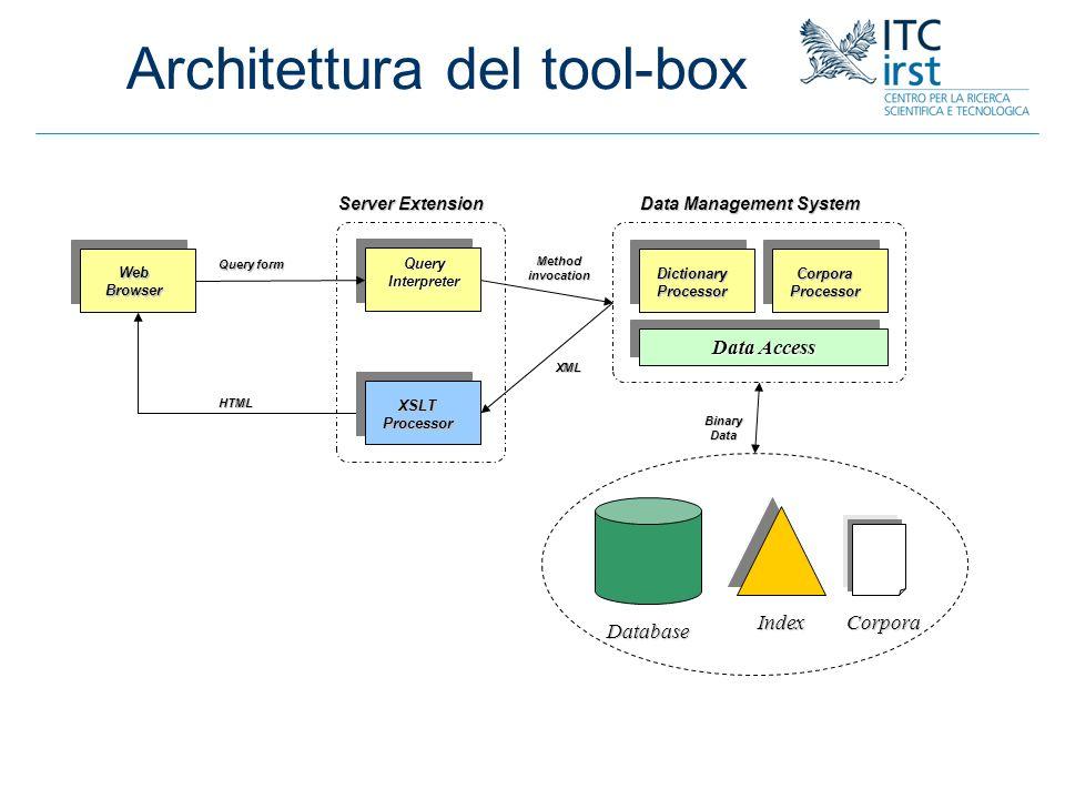 Architettura del tool-box