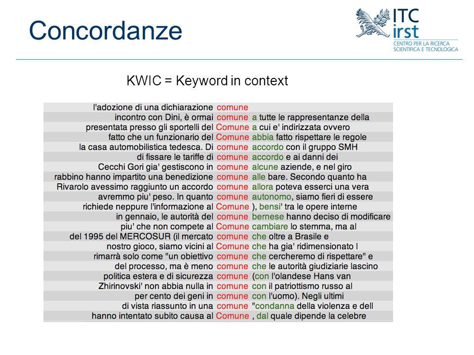 KWIC = Keyword in context