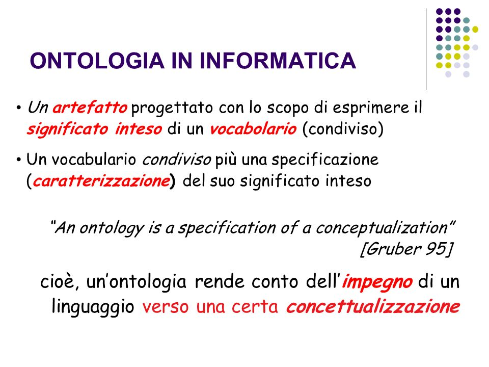 ONTOLOGIA IN INFORMATICA