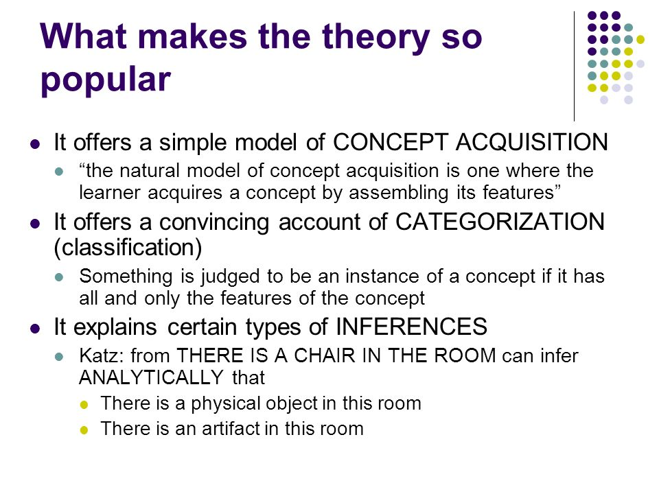 What makes the theory so popular