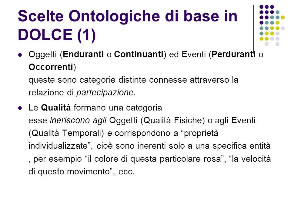 Scelte Ontologiche di base in DOLCE (1)