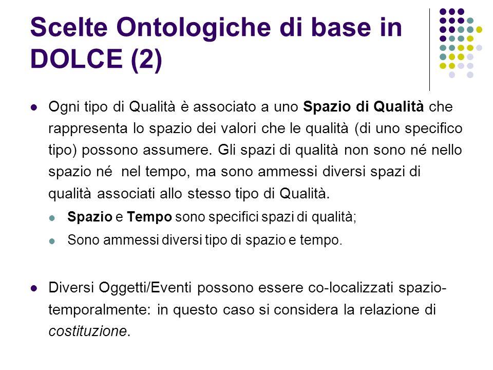 Scelte Ontologiche di base in DOLCE (2)
