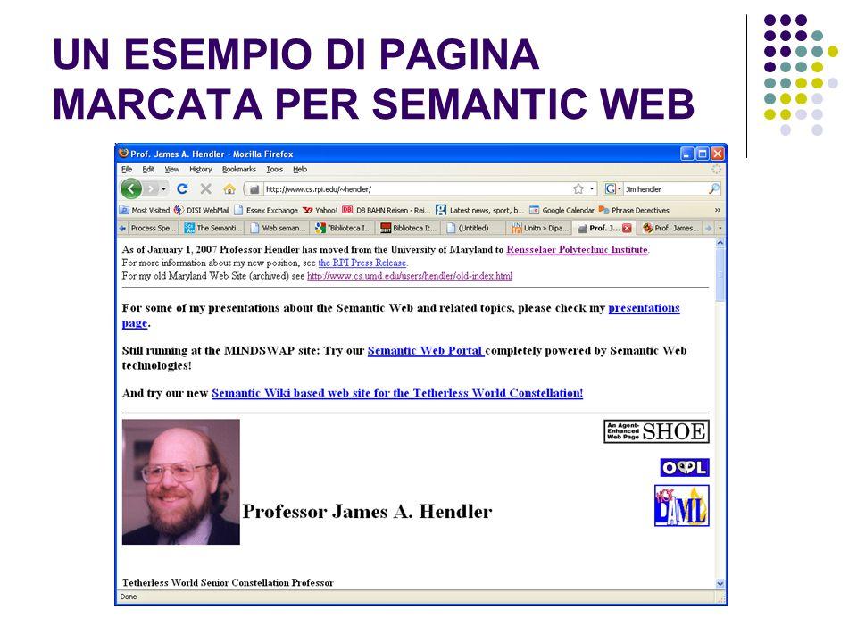 UN ESEMPIO DI PAGINA MARCATA PER SEMANTIC WEB