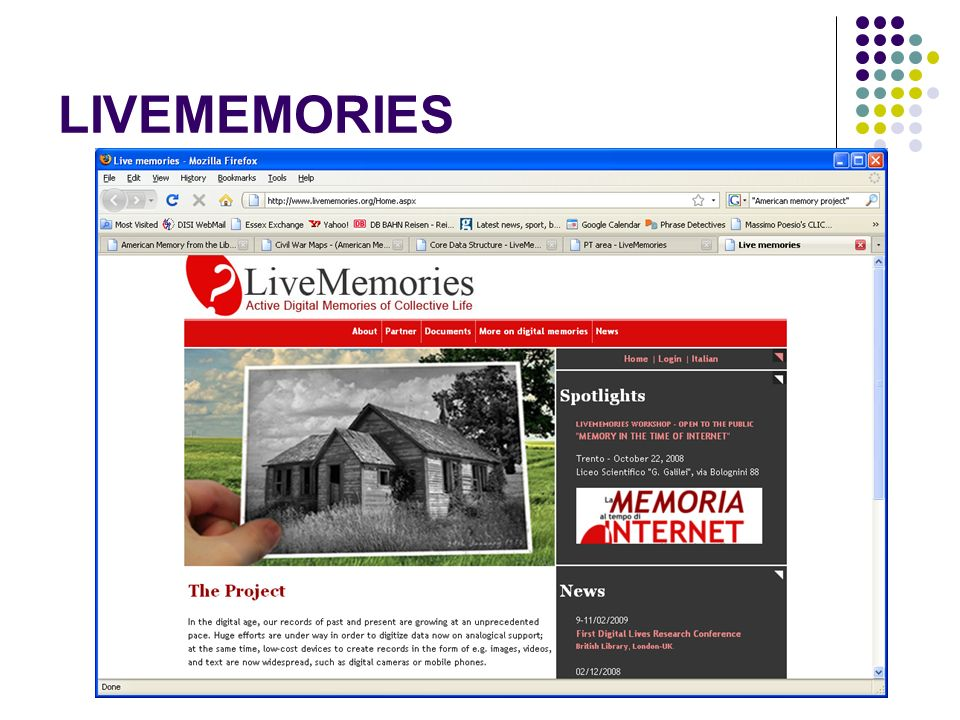 LIVEMEMORIES