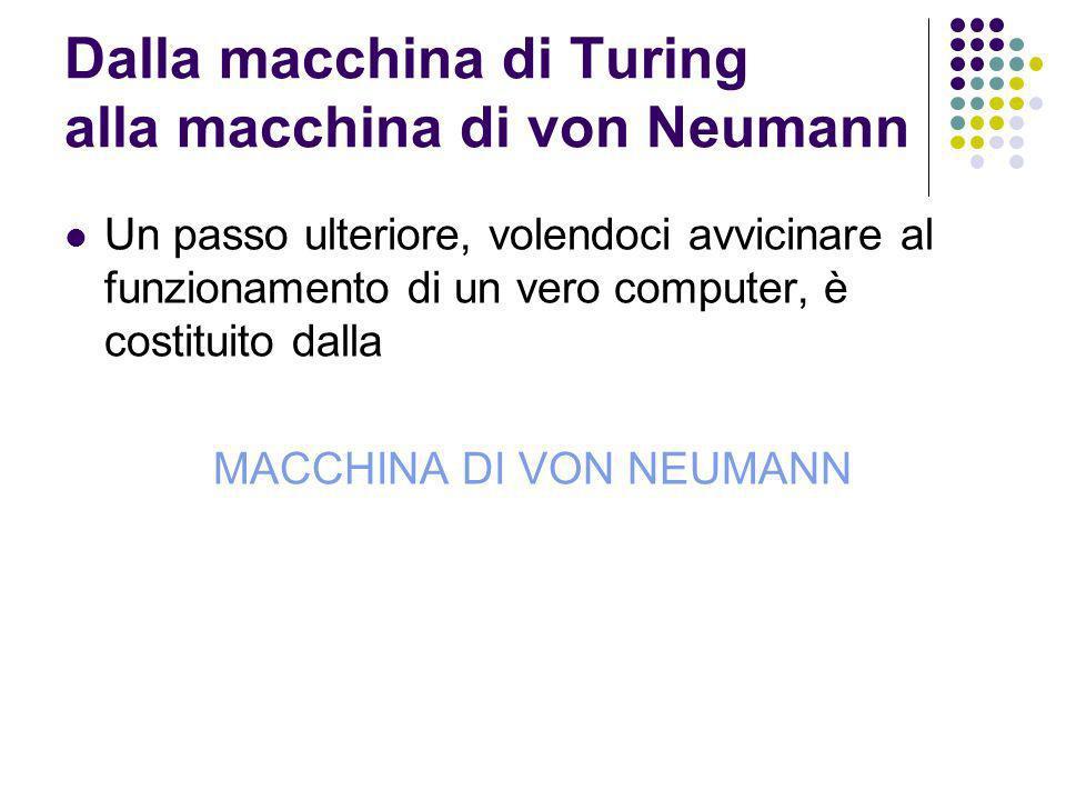 Dalla macchina di Turing alla macchina di von Neumann