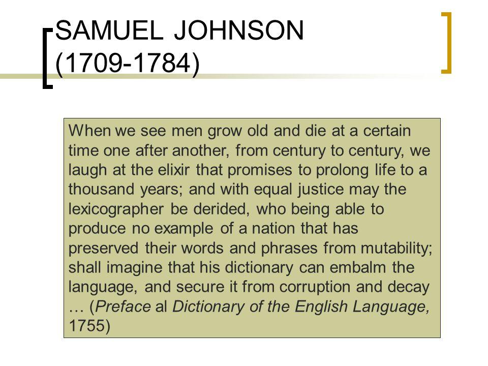 SAMUEL JOHNSON (1709-1784)