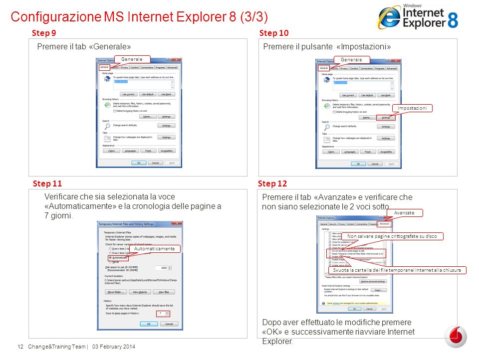 Configurazione MS Internet Explorer 8 (3/3)