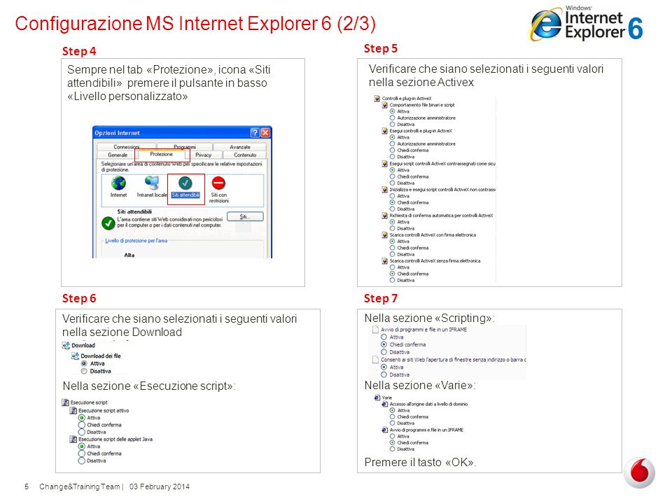 Configurazione MS Internet Explorer 6 (2/3)