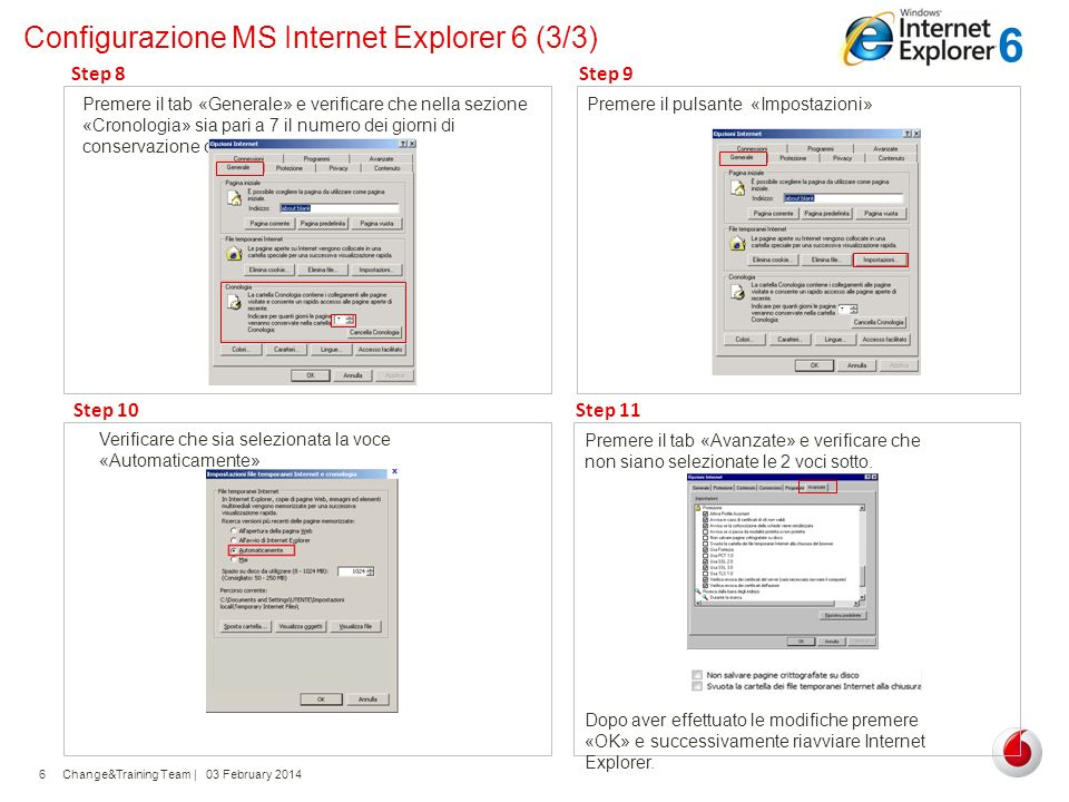 Configurazione MS Internet Explorer 6 (3/3)