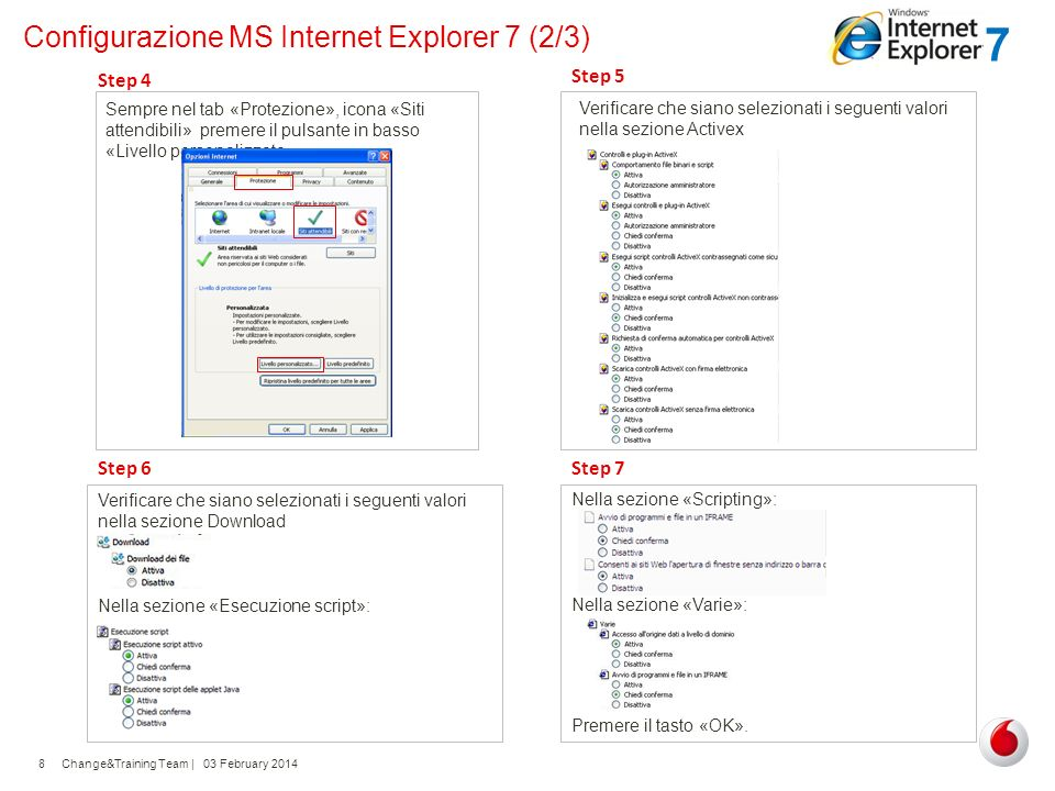 Configurazione MS Internet Explorer 7 (2/3)