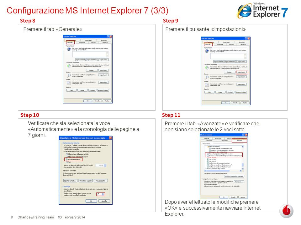 Configurazione MS Internet Explorer 7 (3/3)