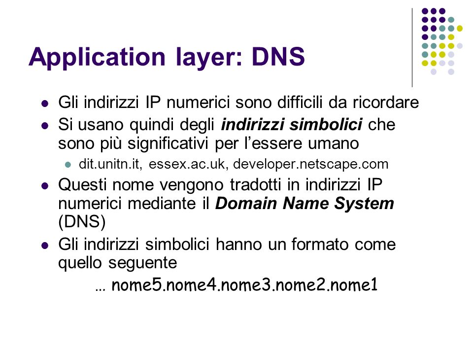 Application layer: DNS