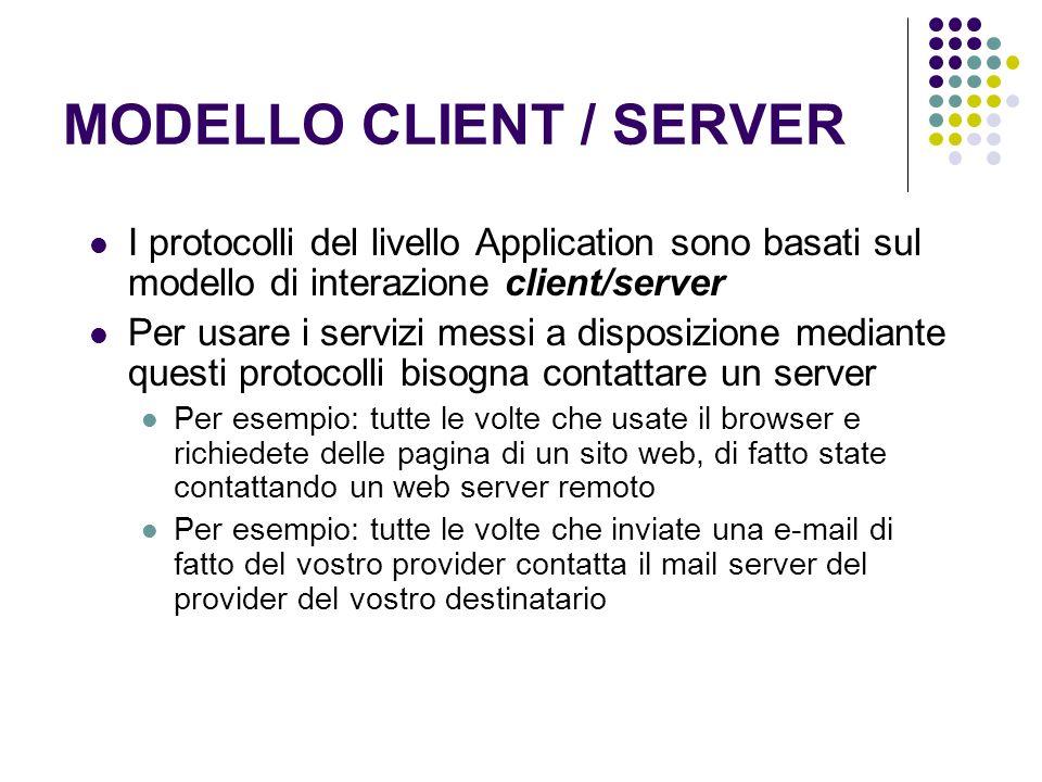 MODELLO CLIENT / SERVER