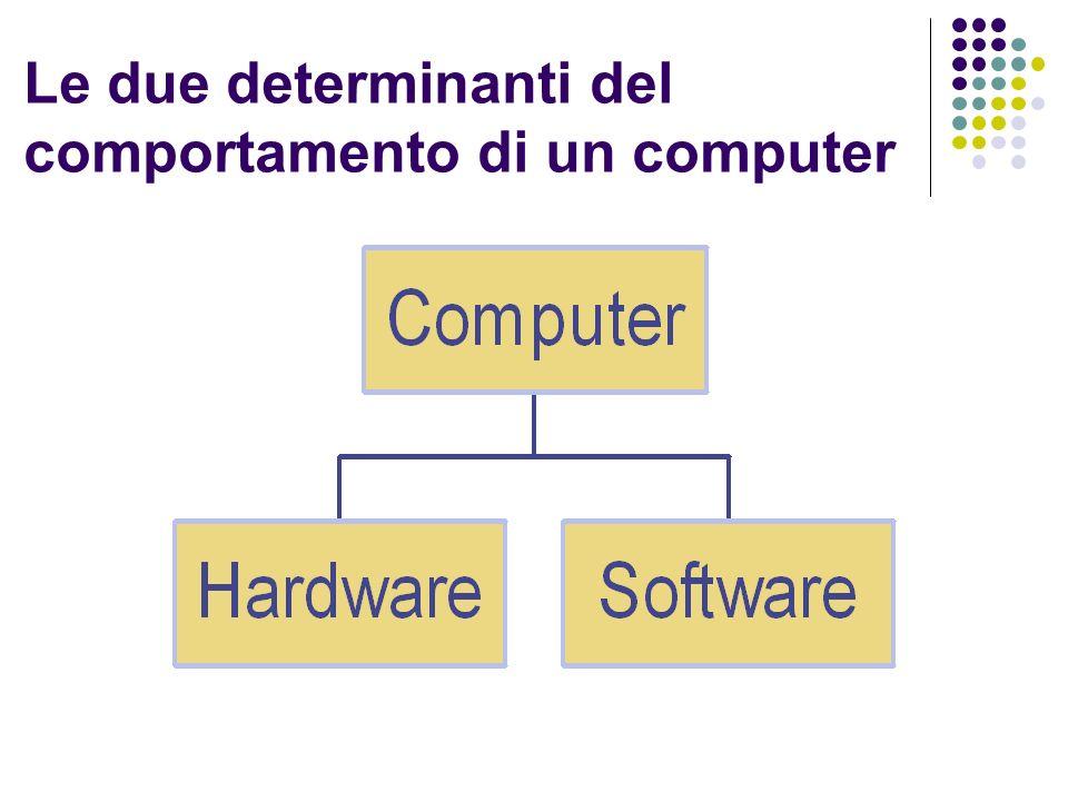 Le due determinanti del comportamento di un computer