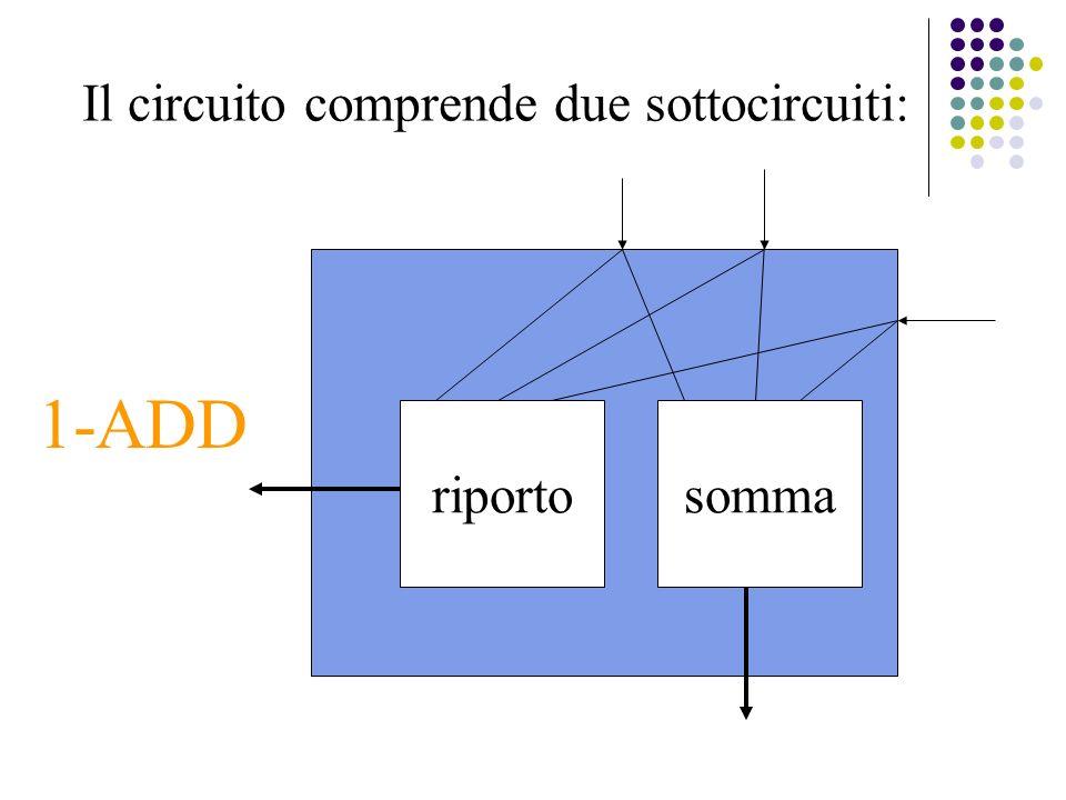 Il circuito comprende due sottocircuiti: