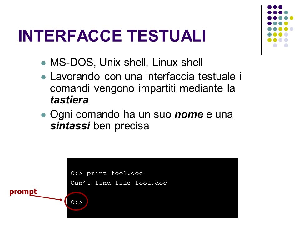 INTERFACCE TESTUALI MS-DOS, Unix shell, Linux shell