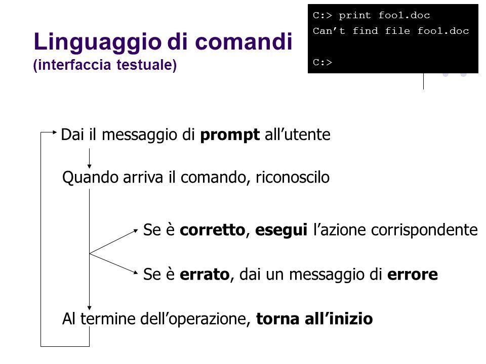 Linguaggio di comandi (interfaccia testuale)