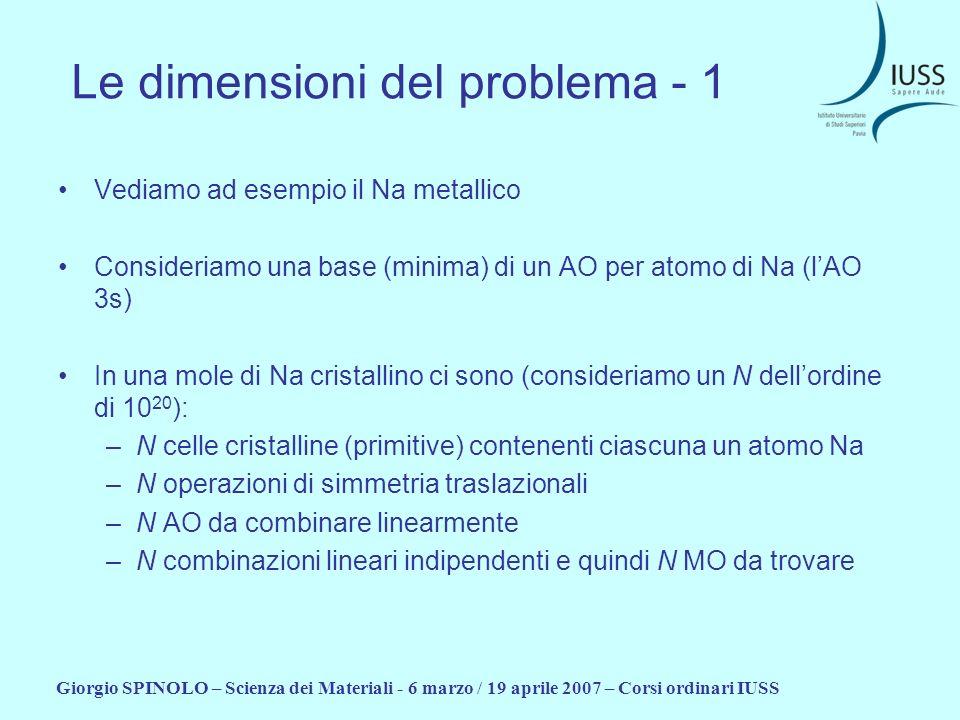 Le dimensioni del problema - 1