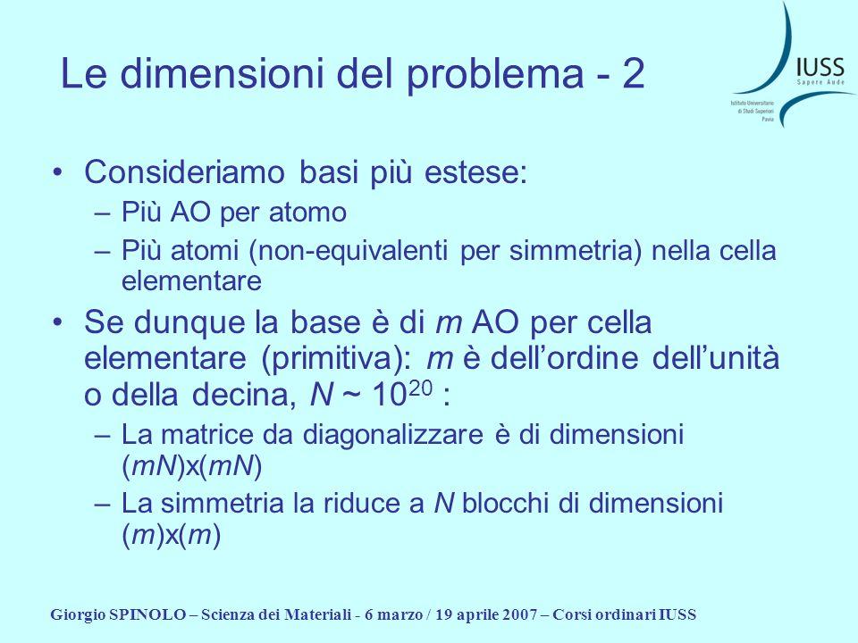 Le dimensioni del problema - 2