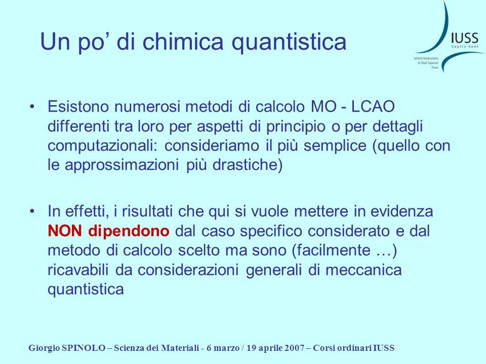 Un po' di chimica quantistica