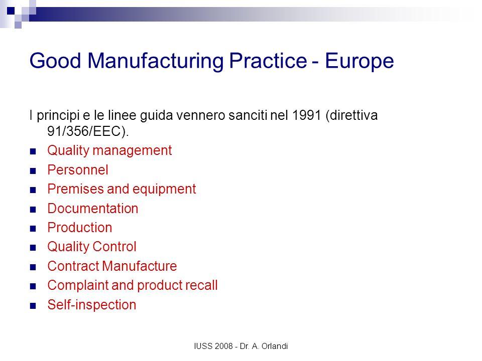 Good Manufacturing Practice - Europe